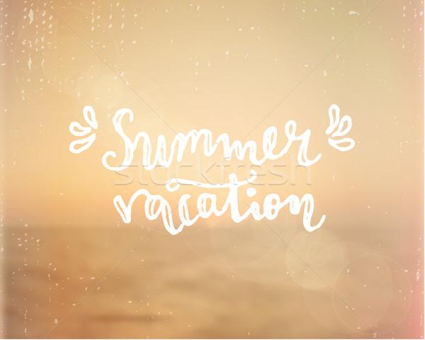 Summer Vacation Hand Lettered Design Stock photo © ivaleksa