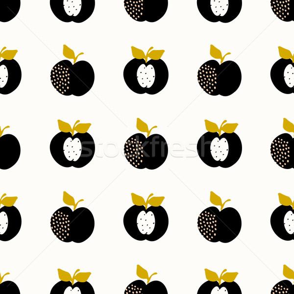 Seamless Apples Pattern Stock photo © ivaleksa