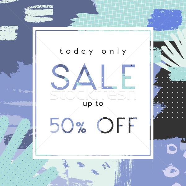 手描き 販売 ポスター デザイン 抽象的な 紫色 ストックフォト © ivaleksa
