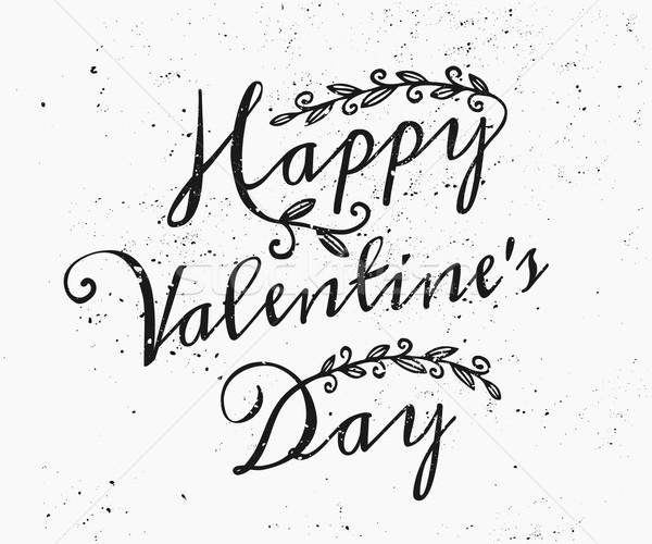 Hand Drawn St. Valentine's Day Card Stock photo © ivaleksa