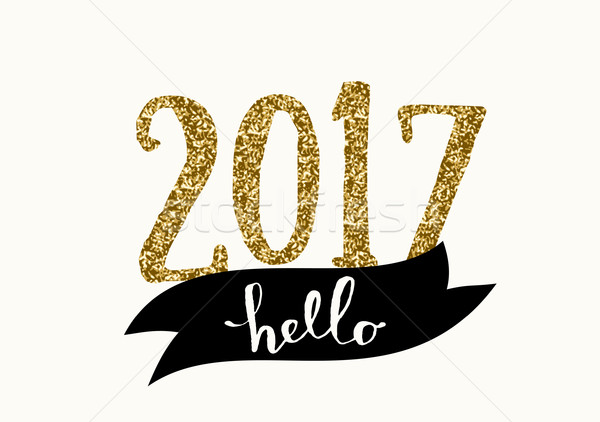 2017 Greeting Card Template Stock photo © ivaleksa