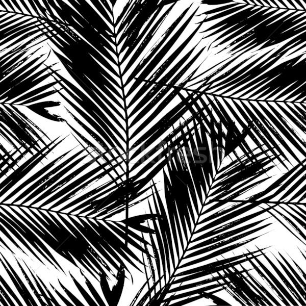 ヤシの木 葉 シームレス パターン ストックフォト © ivaleksa