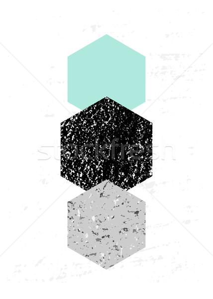 Abstract Geometric Composition Stock photo © ivaleksa