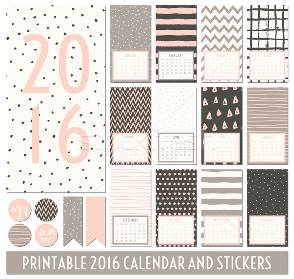 Stock photo: 2016 Printable Calendar