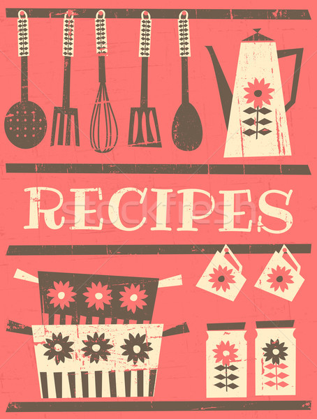 Stock photo: Vintage Recipe Card