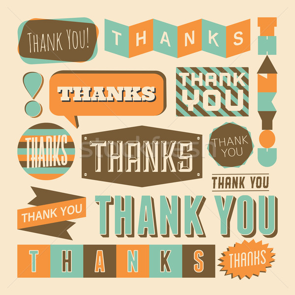 Thank You Design Elements Stock photo © ivaleksa
