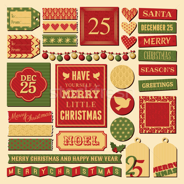 Stock photo: Christmas Design Elements