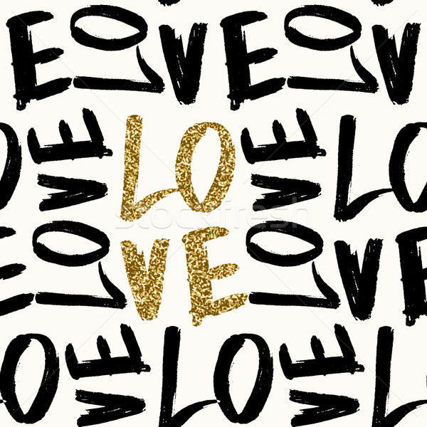 Love Typographic Seamless Pattern Stock photo © ivaleksa