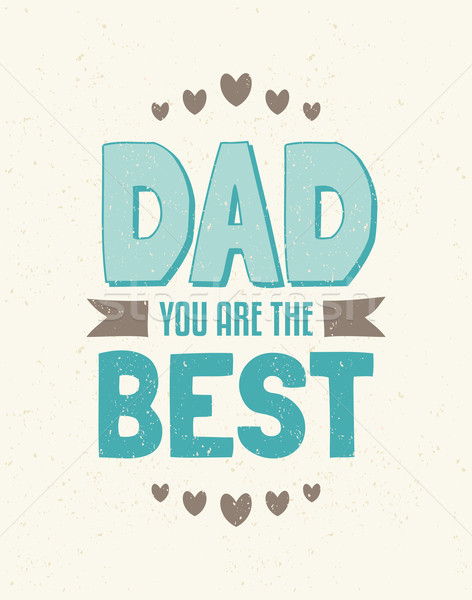 Father's Day Greeting Card Stock photo © ivaleksa