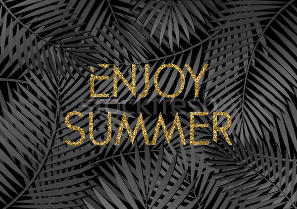 Enjoy Summer Poster Design Stock photo © ivaleksa