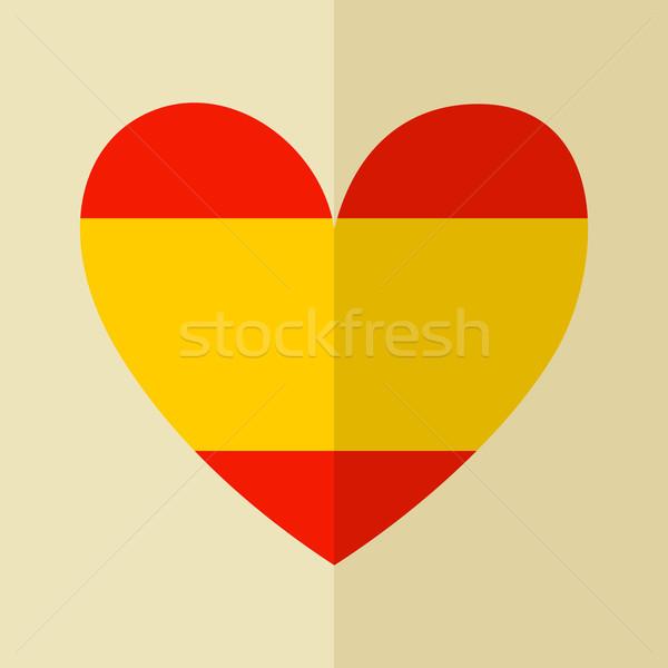 スペイン国旗 アイコン デザイン 中心 背景 ストックフォト © ivaleksa