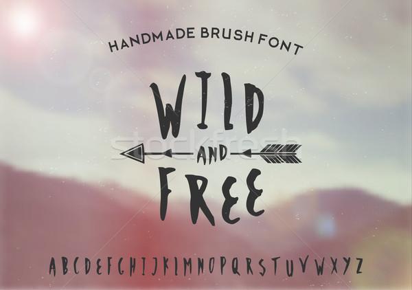 Wild and Free Hand Drawn Font Stock photo © ivaleksa