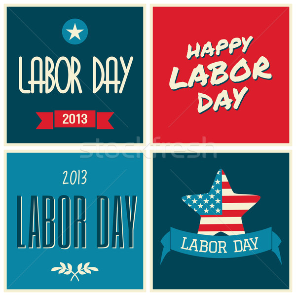 American Labor Day Collection Stock photo © ivaleksa