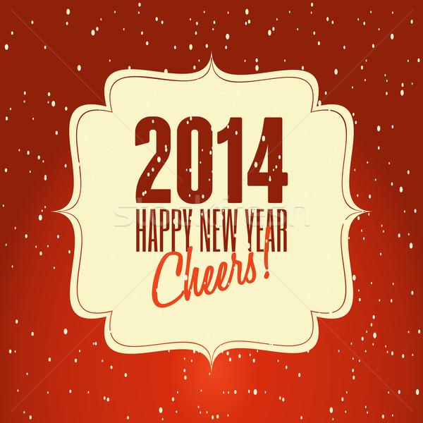 счастливым новых 2014 с Новым годом ретро дизайна Сток-фото © ivaleksa
