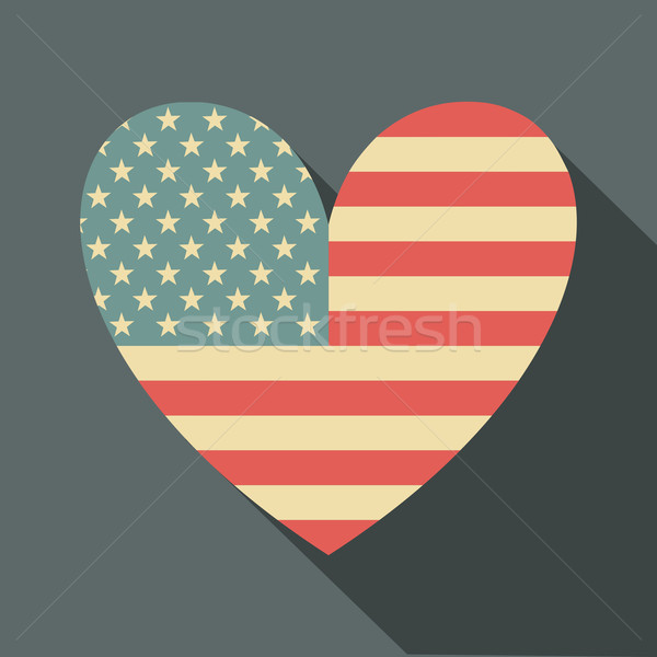 Stock photo: American Flag Icon