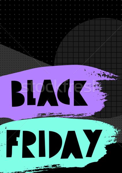 Black friday satış poster parlak neon renkli Stok fotoğraf © ivaleksa