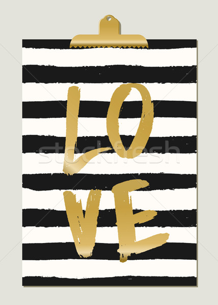 Gold Foil Text and Stripes Design Stock photo © ivaleksa