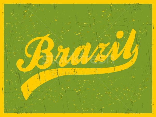 Retro Brasil cartaz estilo retro brilhante Foto stock © ivaleksa