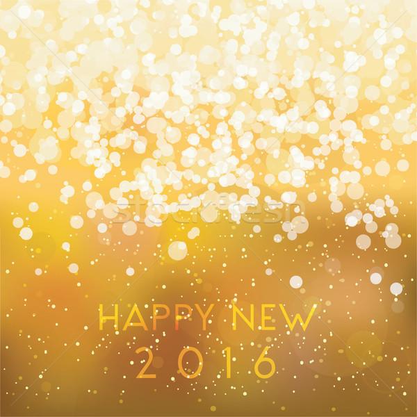 Szczęśliwy nowego 2016 kartkę z życzeniami szablon zamazany Zdjęcia stock © ivaleksa