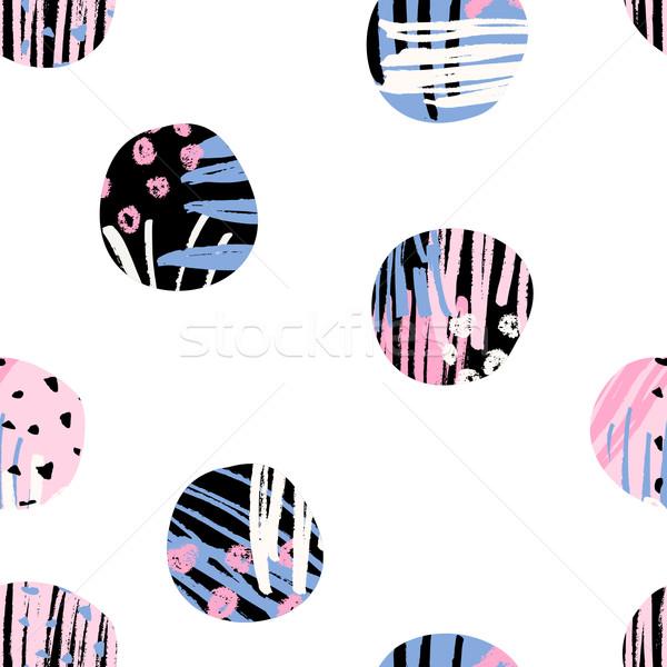 Mintázott körök minta végtelenített ismétlés formák Stock fotó © ivaleksa