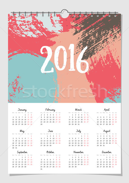 2016 Calendar Design Template Stock photo © ivaleksa