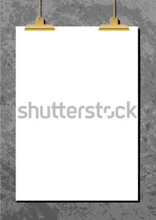 Horizontal Poster Mockup Stock photo © ivaleksa