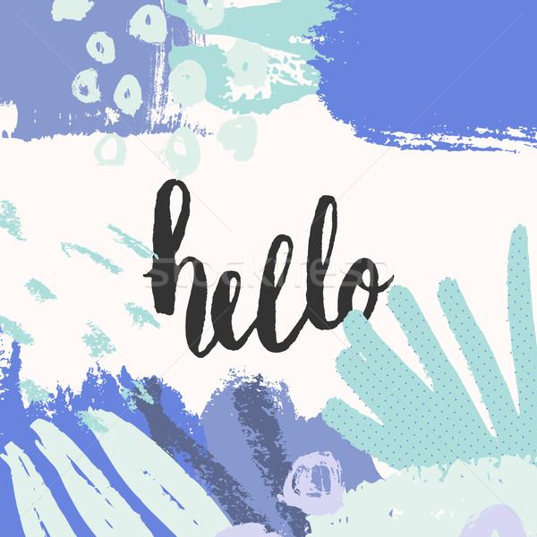 Hand Drawn Greeting Card Stock photo © ivaleksa