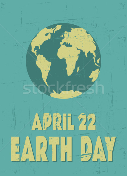 Earth Day Poster Stock photo © ivaleksa