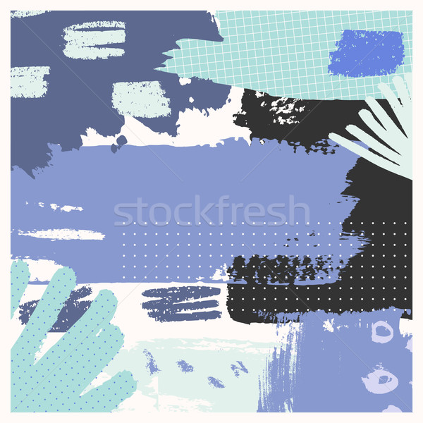 手描き 抽象的な デザイン 紫色 ミント 緑 ストックフォト © ivaleksa