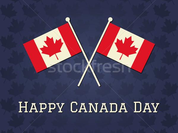Photo stock: Heureux · Canada · jour · carte · élégante · carte · de · vœux