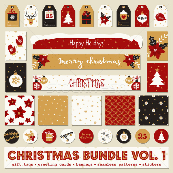 Foto stock: Natal · coleção · conjunto · dom · saudação