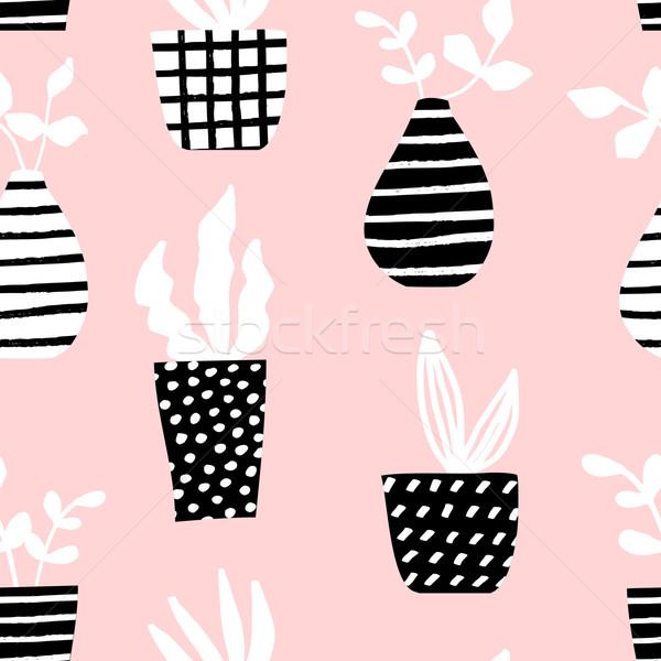 ストックフォト: シームレス · パターン · パステル · ピンク