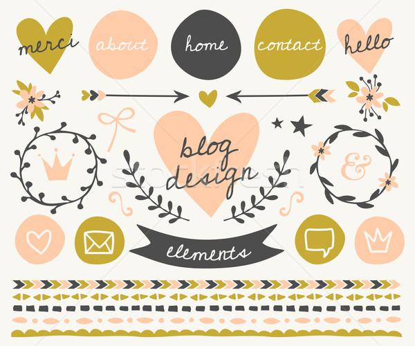 Blog Design Elements Collection Stock photo © ivaleksa