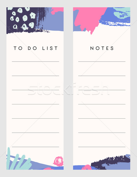 Notes and To Do List Templates Stock photo © ivaleksa