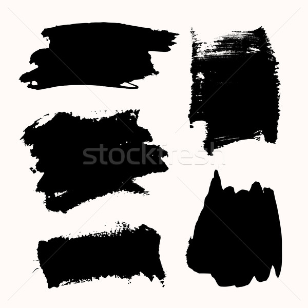 Ink Brush Strokes Set Stock photo © ivaleksa