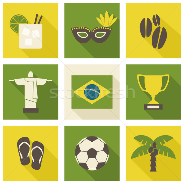 Brazil Icons Collection Stock photo © ivaleksa