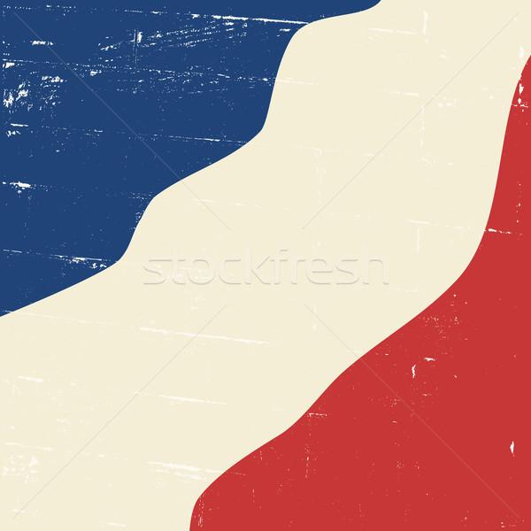 Abstract Vintage French Flag Stock photo © ivaleksa
