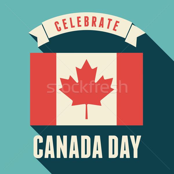 Canada jour design carte de vœux résumé Photo stock © ivaleksa