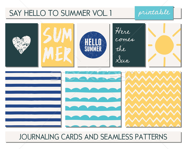Stock photo: Greeting Card Templates Collection
