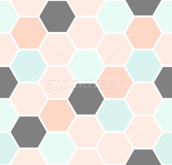 六角形 幾何学的な シームレス パターン ストックフォト © ivaleksa