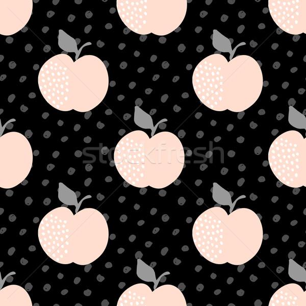 シームレス リンゴ パターン パステル ピンク ストックフォト © ivaleksa