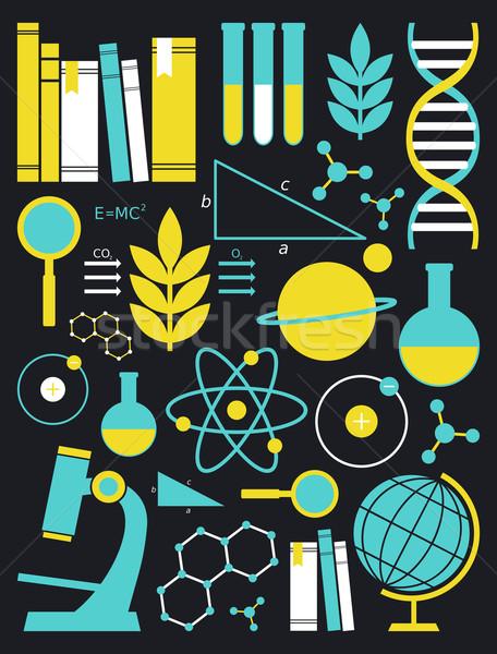 образование науки набор белый Сток-фото © ivaleksa