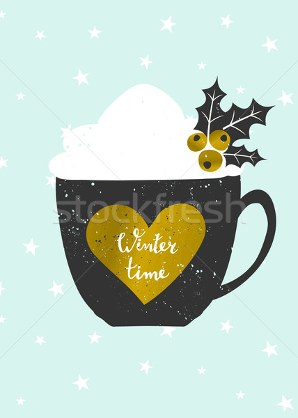 Winter Time Christmas Greeting Card Stock photo © ivaleksa
