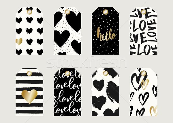 Valentine's Day Gift Tag Designs Stock photo © ivaleksa