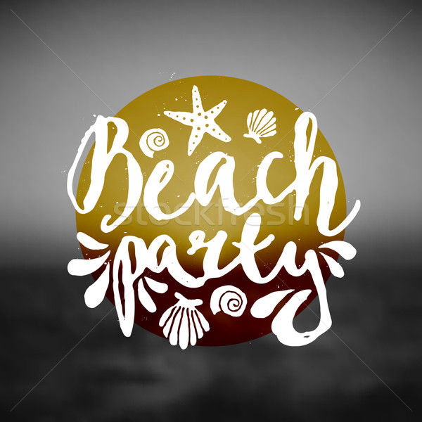 Abstract Typographic Beach Party Design Stock photo © ivaleksa