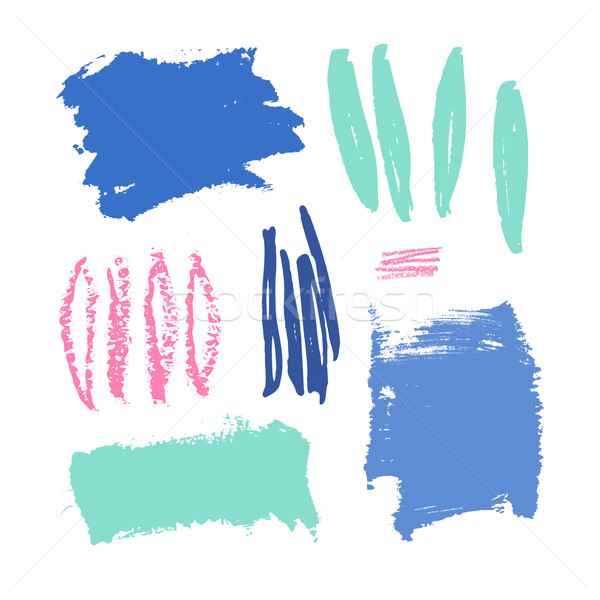 Colorful Brush Strokes Set Stock photo © ivaleksa