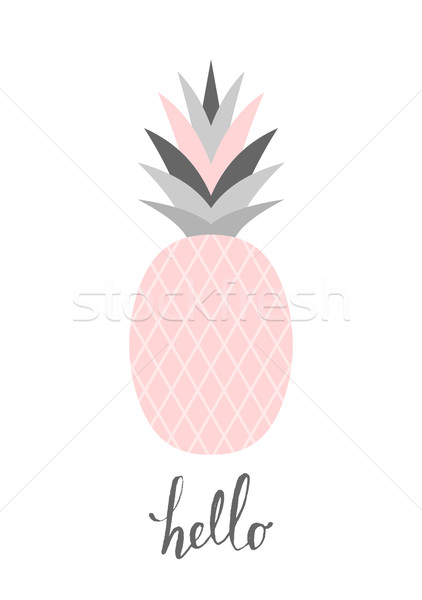 Pastel Pink Pineapple Design Stock photo © ivaleksa
