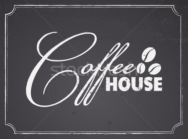 Chalkboard Coffee House Design Stock photo © ivaleksa