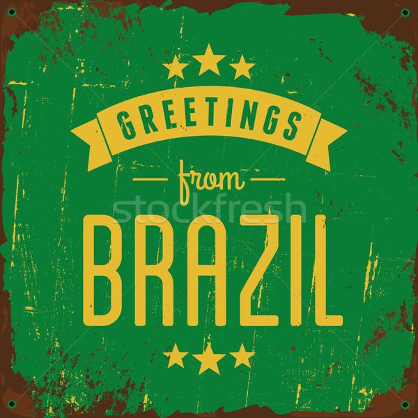 Brazil Metal Sign Stock photo © ivaleksa