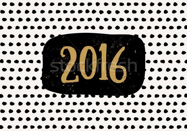 2016 biglietto d'auguri modello design Foto d'archivio © ivaleksa